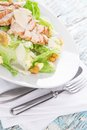 Caesar Salad With Chicken And Greens Stock Photos - 41206463