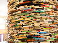 Books Tower In Municipal Library Royalty Free Stock Photography - 41210667