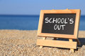 Blackboard With School S Out Text Stock Image - 41210811