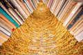Tower Of Books In The Library Stock Photos - 41210853