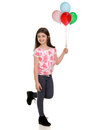 Child With Colorful Balloons Stock Photography - 41215502