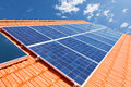 Solar Panels On Roof Stock Photography - 41216862