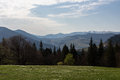 Carpathians, Mountains The Dawn Sun Stock Image - 41220111