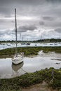 Landscape Of Moody Evening Sky Over Low Tide Marine Royalty Free Stock Image - 41220616