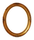 Gold Vintage Oval Photo Frame Isolated, Clipping Path. Royalty Free Stock Image - 41224236