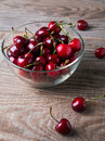 Cherries In A Glass Bowl Stock Image - 41236121