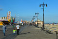 BROOKLYN, NEW YORK - MAY 31: Coney Island Boardwalk Restored After Damage By Hurricane Sandy Stock Images - 41253454
