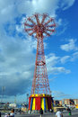 BROOKLYN, NEW YORK - MAY 31 Coney Island Boardwalk With Parachute Jump In The Background Royalty Free Stock Image - 41253456
