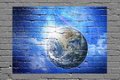 Earth Wall Graffiti Background Stock Images - 41259904