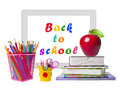 Education Concept With Tablet Pc, Books And Pencils Stock Photo - 41260940