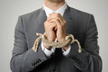 Businessman With Tied Hands Stock Image - 41266881