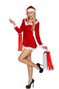 Sexy Woman Wearing Santa Clause Costume Stock Image - 41268411
