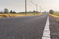 Empty Road With Electricity Post In Suburban In Thailand Royalty Free Stock Images - 41277369