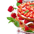 Summer Strawberry Cake Royalty Free Stock Images - 41277409