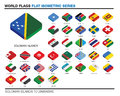 Flags Of The World, S-z,  3d Isometric Flat Icon D Royalty Free Stock Image - 41283146