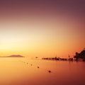 Minimalist Seascape. Coastal Sunrise. Royalty Free Stock Images - 41284479