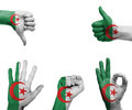 Hand Set With The Flag Of Algeria Royalty Free Stock Photography - 41296537