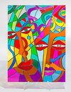 Stained Glass - Abstract Faces Royalty Free Stock Photos - 41298768