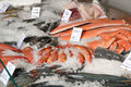 Fish On Fishmonger S Slab Stock Photography - 4137602