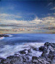 Volcanic Stones Of Hawaii In The Sea Stock Photos - 4139263