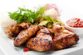 BBQ Chicken Wings Royalty Free Stock Photography - 41302877