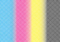 Abstract CMYK Mesh Pattern Background Textures Stock Photos - 41312623