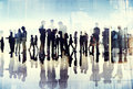 Silhouettes Of Business People Working In An Office Stock Photos - 41315963