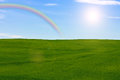 Meadow With Rainbow Royalty Free Stock Photos - 41319208