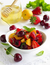 Summer Fruit Salad With Strawberries Royalty Free Stock Photo - 41326595