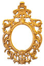 Gold Ornate Oval Frame Royalty Free Stock Images - 41338479