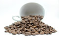 Coffe Cup And Beans Royalty Free Stock Photo - 41340025