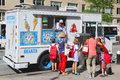Ice Cream Truck In Midtown Manhattan Royalty Free Stock Image - 41345956