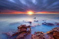 Sunset Rocks On The Bay Stock Images - 41348054