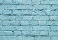 Wall With Blue Brick Paint Pattern Paint Stock Photography - 41352322