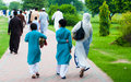 Muslim Family Going For Eid Prayers, Lahore, Pakistan Stock Images - 41355444