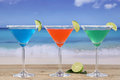 Martini Cocktails In Glasses On The Beach With Lemons Stock Photo - 41359830