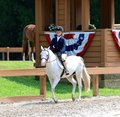 A Young Child Rides A Horse In The Germantown Charity Horse Show Stock Photography - 41366262