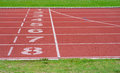 Running Track Of A Sports Stock Image - 41370501