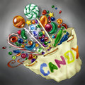 Bag Of Candy To Brighten A Dull Day Royalty Free Stock Photos - 41371288
