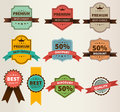 Vintage Labels  Set Discount And Premium Royalty Free Stock Photo - 41381735