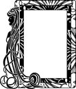 Ornamental Frame In Style Art Nouveau Royalty Free Stock Images - 41383519