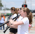 Youth Clarinet Players In Parade In Small Town America Stock Images - 41384424