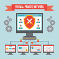 VPN (Virtual Private Network) - Illustration Concept Royalty Free Stock Images - 41384599