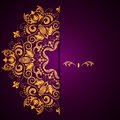 Stylish Background With Circular Floral Pattern And Place For Text. Royalty Free Stock Photo - 41387925