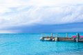 Perfect Beach Pier At Caribbean Island In Turks Stock Image - 41392641