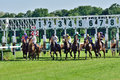 Horse Race For The Prize Of The President Of The City Of Wroclaw On Juni 8, 2014. Stock Photos - 41408233