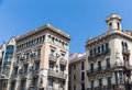 Two Old Barcelona Hotels Royalty Free Stock Photo - 41408655