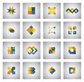 Business Icons On Various Shapes And Colors - Concept Vector Gra Royalty Free Stock Photos - 41415968
