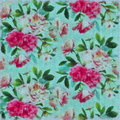 Flowers Painted On Fabric With Watercolours Stock Photography - 41417652