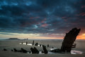 Beautiful Dramatic Sunset Landscape Over Shipwreck On Rhosilli B Stock Image - 41422851